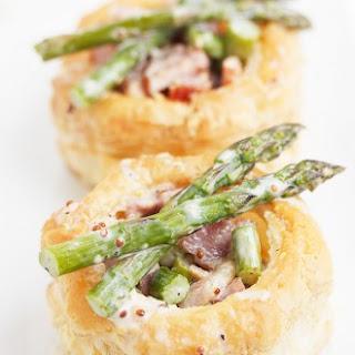 Ham and Asparagus Vol au Vent.