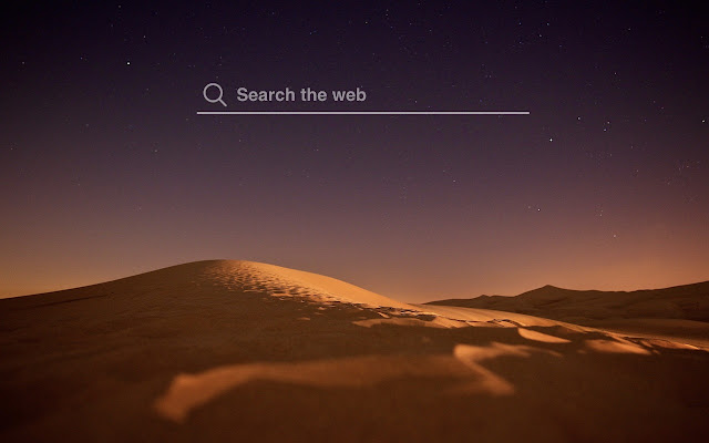 Sahara Night Hd Wallpapers New Tab Theme