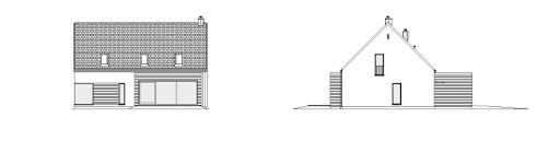 Atrakcyjny 1A - Elewacja tylna i prawa