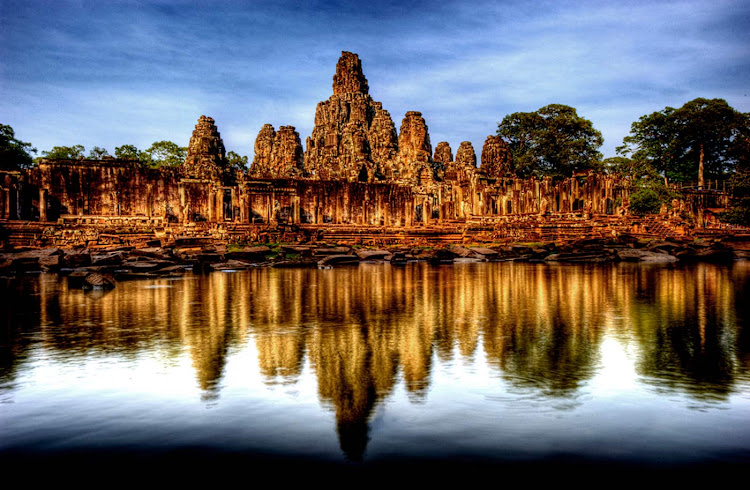 The Bayon is a richly decorated Khmer temple at Angkor in Cambodia built in the late 12th or early 13th century.