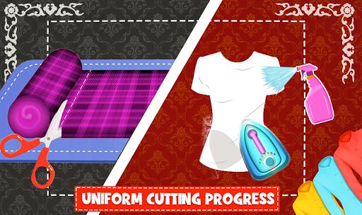 High School Uniform Tailor Games: Dress Maker Shop android2mod screenshots 3