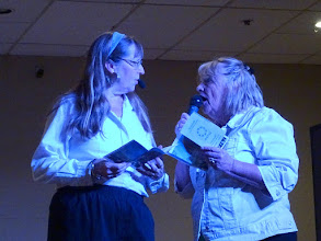Photo: Laura Surman and Jill Berry on stage 30Sep16