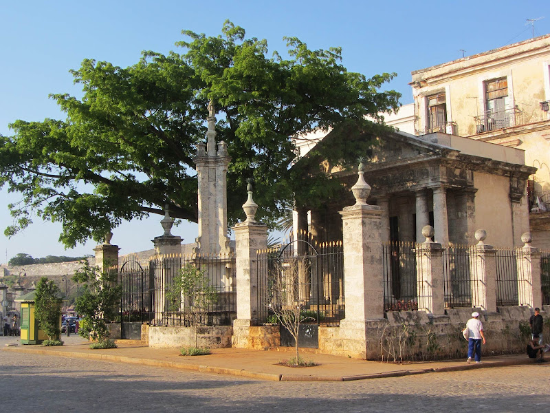 El Templete, a monument that pays homage to the place where Havana's foundation was celebrated in 1519.