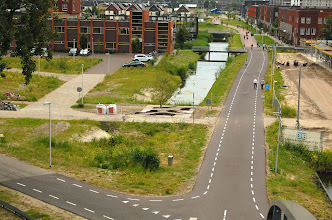 Photo: De lokatie van de informatietuin is goed te zien