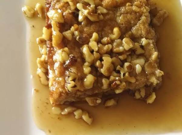 Walnut Blondie With Maple Butter Sauce Recipe