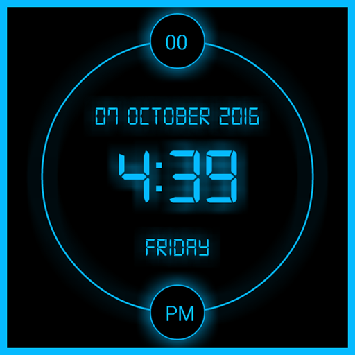 LED Digital clock LWP file APK for Gaming PC/PS3/PS4 Smart TV
