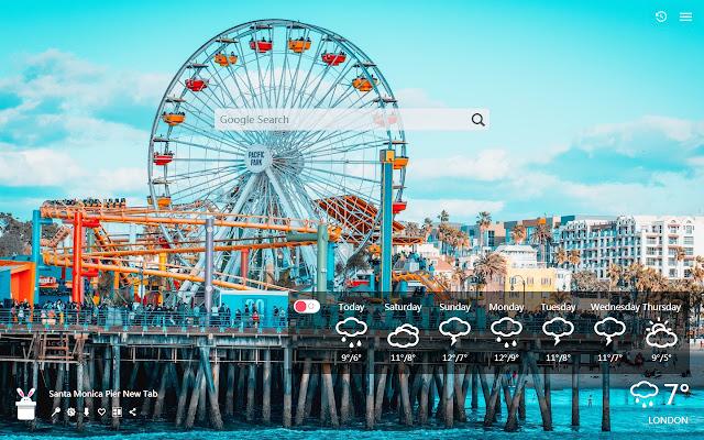Santa Monica Pier New Tab, Wallpapers HD