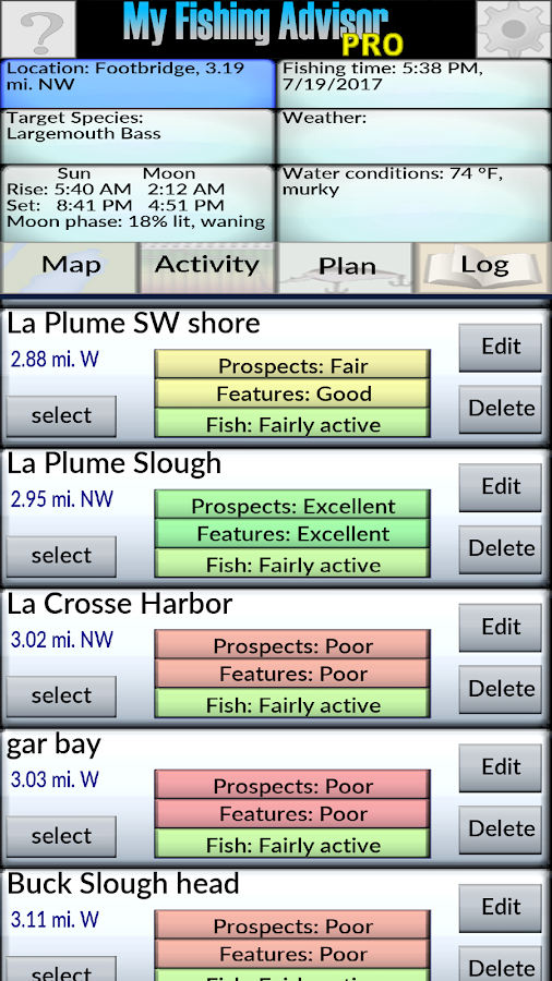 My Fishing Advisor Pro- screenshot