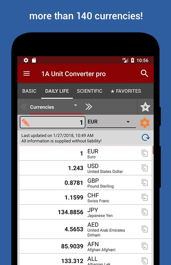 1A Unit Converter pro Screenshot 3