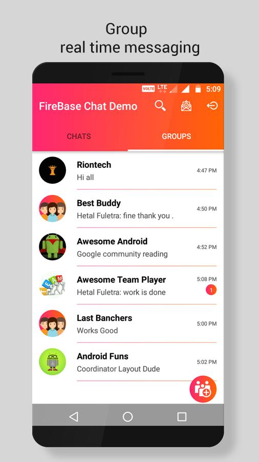 firebase chat app online