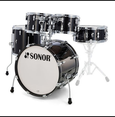 Sonor AQ2 - 20/10/12/14/14s. Finish: Transparent Stain Black