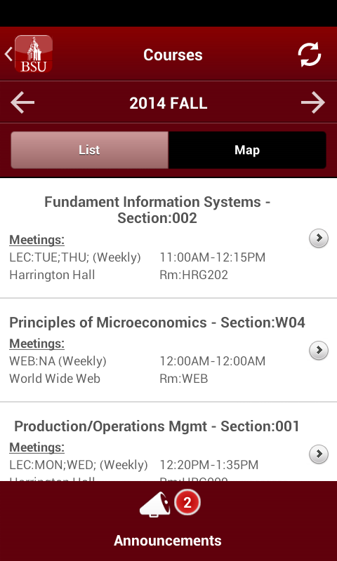 BSU Mobile- screenshot