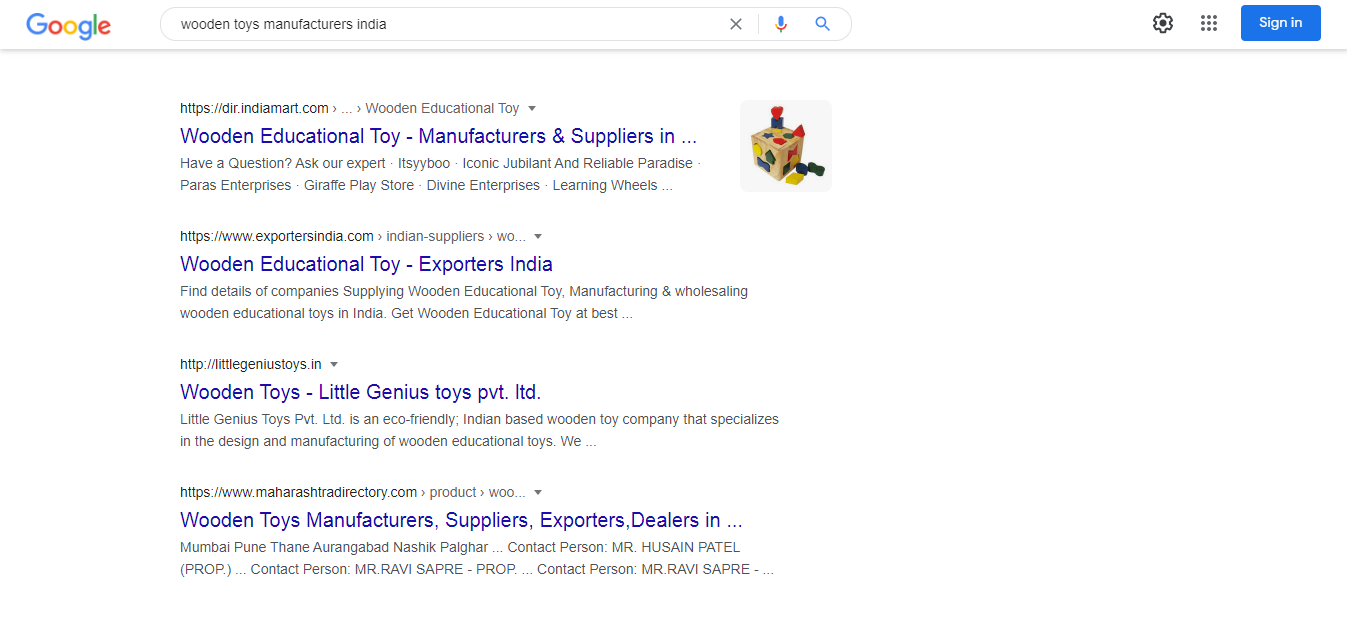 use google to find manufacturers