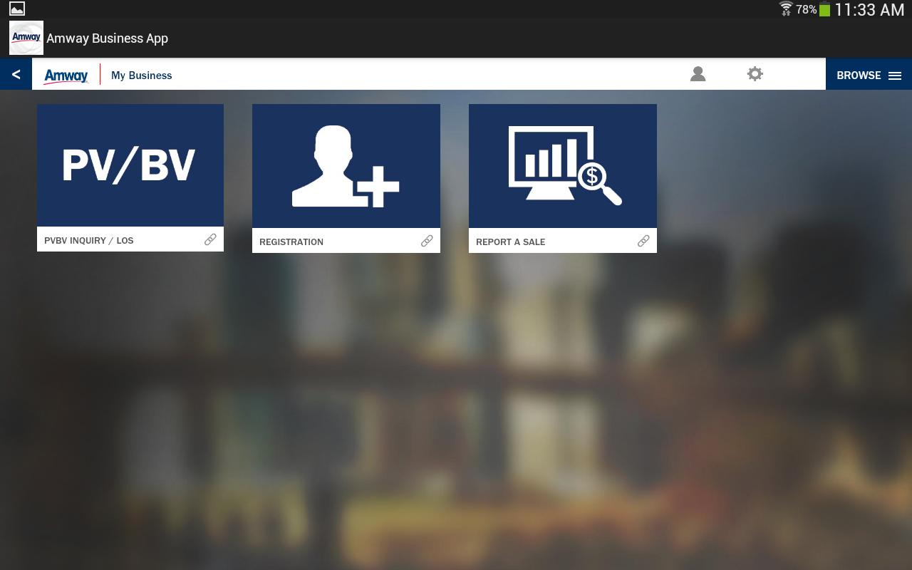 Amway™ App- screenshot