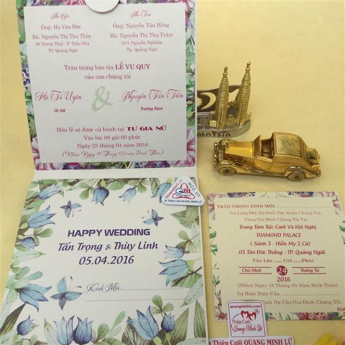Thiệp cưới in kỹ thuật số giấy ánh kim 2016.19