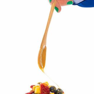 Fruit Salad with Honey Yogurt Dressing.