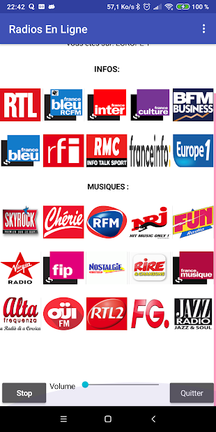 Radios En Ligne Android App Screenshot
