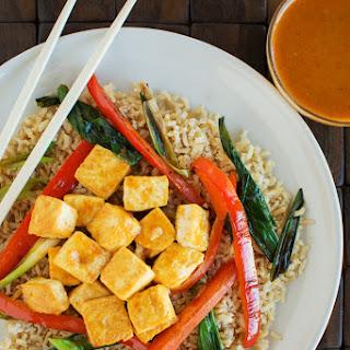 Thai Peanut Tofu Stir Fry