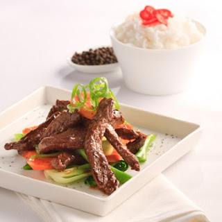 Stir Fried Beef with Black Pepper and Garlic Sauce Recipe