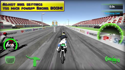 Motorbike real 3D drag racing Wheelie Challenge 3D  screenshots 23