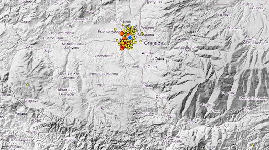 Cuarenta terremotos en una noche: Granada se desvela