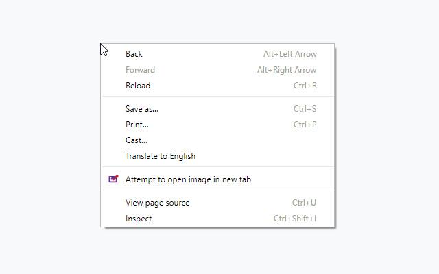 image under cursor
