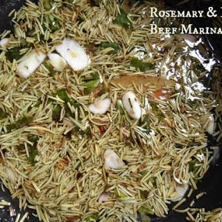 Rosemary & Basil Steak Marinade.