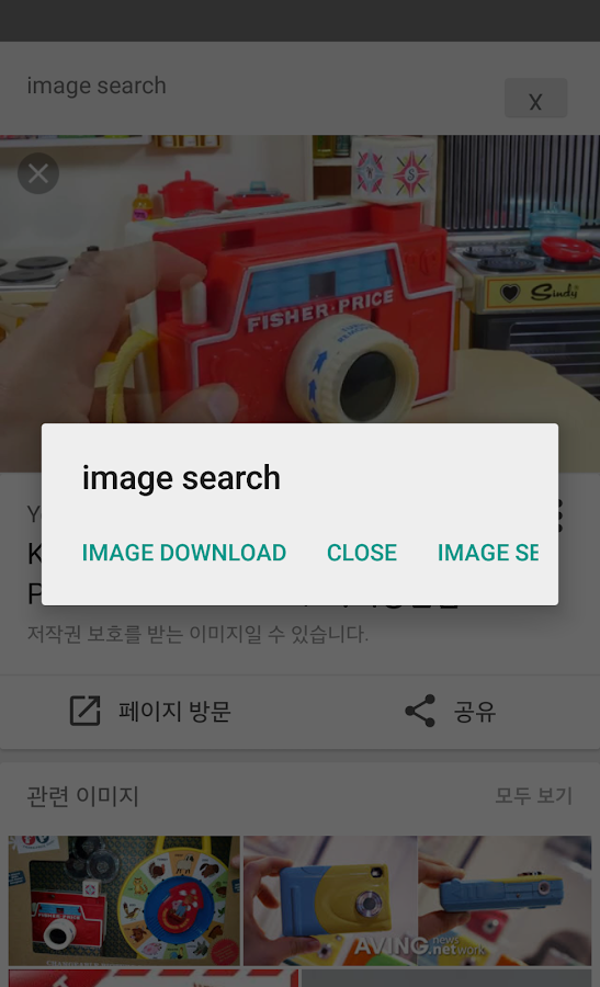 image search for google- screenshot