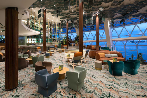The Eden Cafe on Celebrity Edge is a great spot for grabbing a free breakfast or lunch.