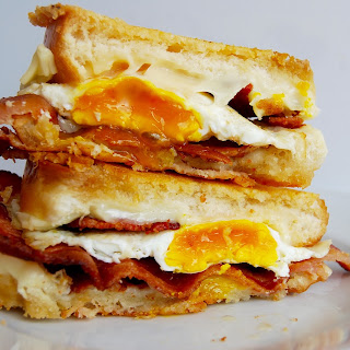 Parmesan Crusted Breakfast Grilled Cheese