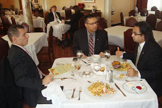 Photo: Husain (R) with MPs Patrick Brown and Devinder Shorey  http://canadaindiaeducation.com/introduction/media-outreach