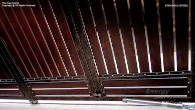 Photo: Wrought Iron with Aluminium Panel (wood texture)