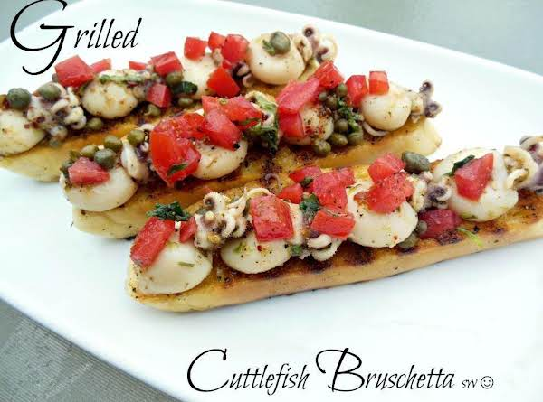 Grilled Cuttlefish Bruschetta Recipe