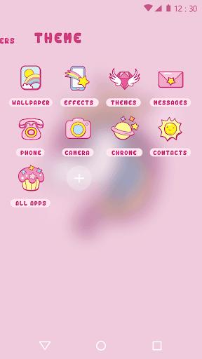 Download Cartoon Theme - Cute Unicorn MOD APK 3