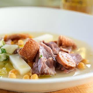 Cured Pork Shank and Chorizo Stew.