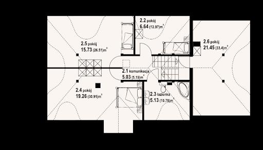 Chmielniki m11 - Rzut poddasza