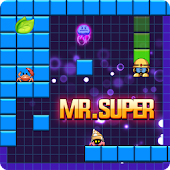 Mr Super Fish: Star Hero Fill Build Blocks