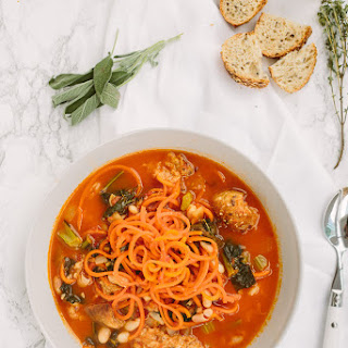 Ribbolita with Spiralized Carrots.