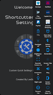 Shortcutter Quick Settings​- screenshot thumbnail