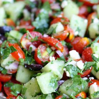 Tomato Cucumber Salad.
