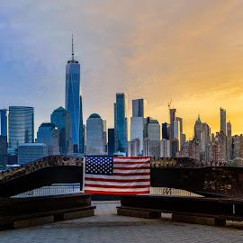 WTC Memorial by Joe Pellicone - City,  Street & Park  Skylines ( new york city, wtc, world trade center, nyc, new york, new york skyline,  )