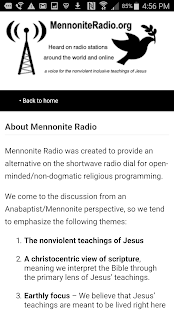 Mennonite Radio- screenshot thumbnail