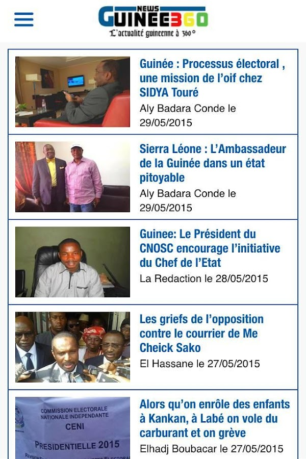 GUINEE360- screenshot