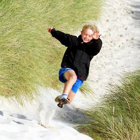 Dünenlauf by Inger Wakolbinger - Sports & Fitness Running