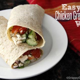 Easy Chicken Greek Salad Wrap Sandwich