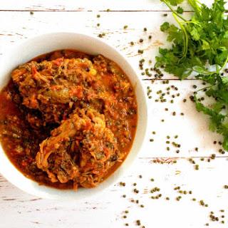 Kuku – Kenyan Chicken Mung Bean Stew.