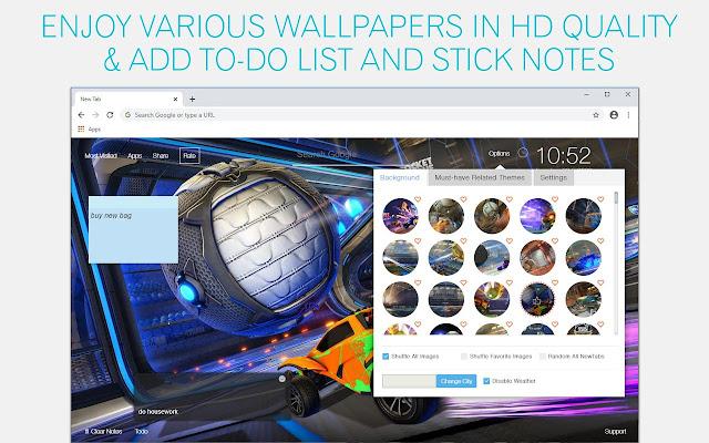 Rocket League Wallpaper HD Rocket League New Tab