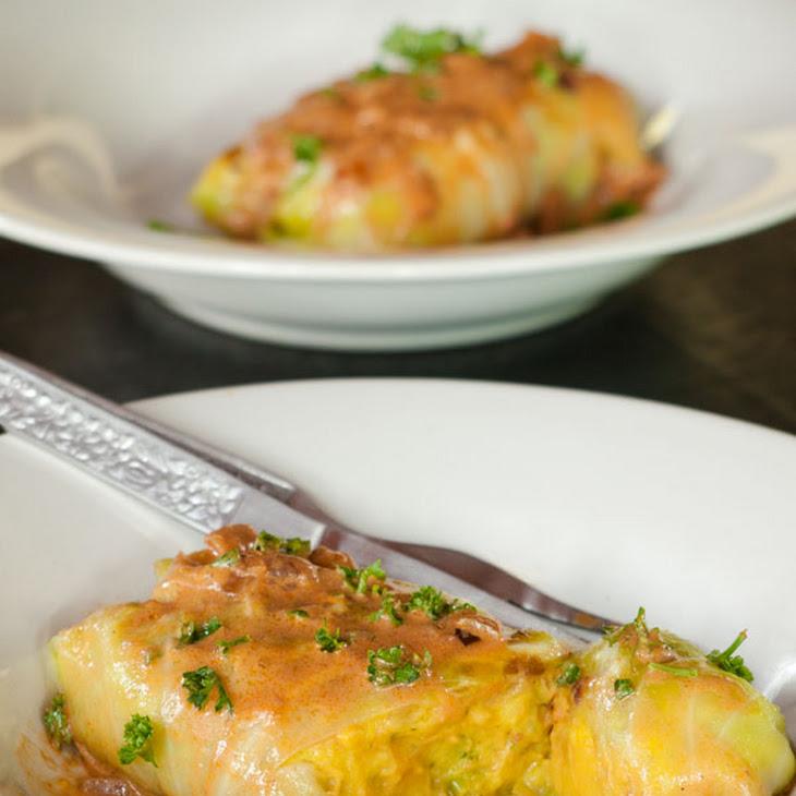 Vegetarian Stuffed Cabbage Rolls Recipe - Healthier German Stuffed Cabbage Rolls Recipe