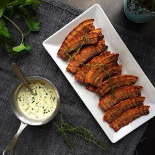 Crispy Fried Pork With Parsley Sauce