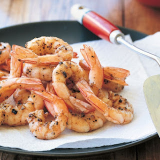 Salt and pepper prawns with Asian slaw